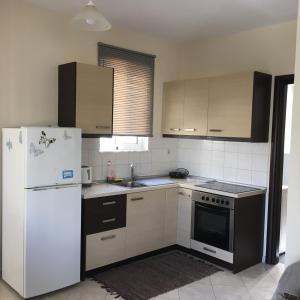 A kitchen or kitchenette at Retas apartment 1