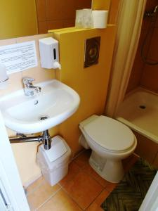 A bathroom at Hotel Tukums