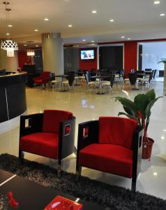 Un restaurant u otro lugar para comer en Hotel Las Vegas