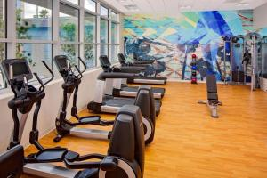 The fitness center and/or fitness facilities at Hyatt House across from Universal Orlando Resort