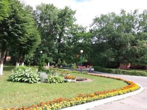 A garden outside Zvenigorodsky Resort