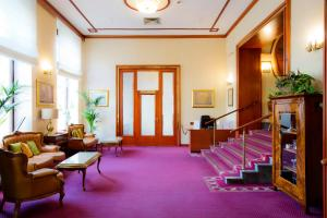 The fitness centre and/or fitness facilities at Palace Hotel Zagreb