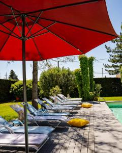 The swimming pool at or near Le Safari Hotel Restaurant