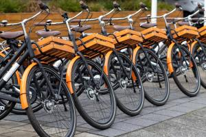 Vélo sur le terrain de l'établissement Bilderberg Garden Hotel ou dans les environs