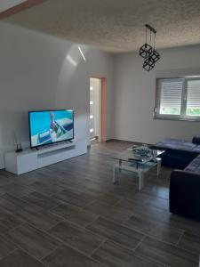 A television and/or entertainment centre at Holiday House Ivan