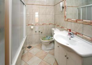 A bathroom at Apartments with a swimming pool Soline, Dubrovnik - 4762