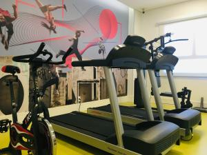 The fitness center and/or fitness facilities at ibis Styles Pouso Alegre
