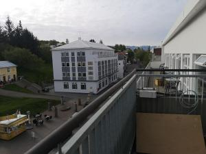 A balcony or terrace at Centrum Hotel