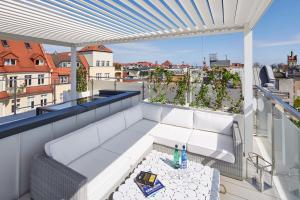Balkon lub taras w obiekcie Taras Na Fali Apartments