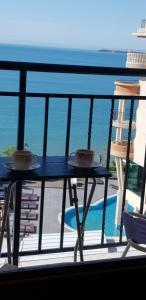 Balkón alebo terasa v ubytovaní Apartment in Grand Hotel Sveti Vlas
