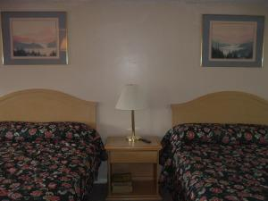 A bed or beds in a room at Fels Three Crown Motel