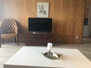 TV/Unterhaltungsangebot in der Unterkunft Strandnest 84