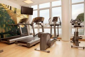 The fitness center and/or fitness facilities at Scandic Ålesund