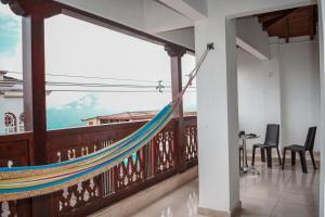 A balcony or terrace at Hotel San Agustín