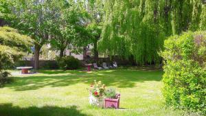 A garden outside Chez Martine et Philippe