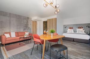 Coin salon dans l'établissement Hotel & Spa des Gorges du Verdon