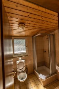 A bathroom at Hotel Weisshorn