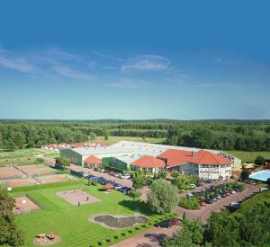 Blick auf Havellandhalle Resort aus der Vogelperspektive