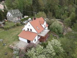 Letecký snímek ubytování Chalupa Hubertus