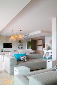 A seating area at Casa Lou