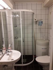 Et bad på Apartement Røldal Alpingrend