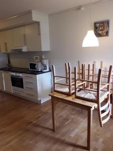 Kjøkken eller kjøkkenkrok på Apartement Røldal Alpingrend