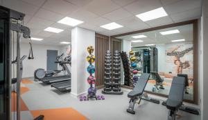 The fitness center and/or fitness facilities at Clayton Hotel Charlemont