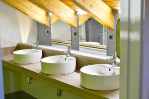 A bathroom at Albergue Alda Pilgrim León