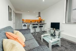A seating area at Halifax House, One Bedroom Apartment 216