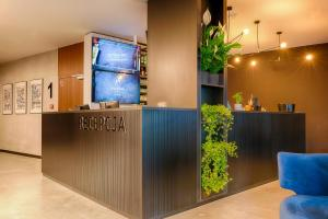 The lobby or reception area at Focus Hotel Premium Lublin