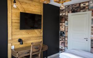 TV a/nebo společenská místnost v ubytování Havshotellet