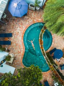 A view of the pool at Vila da Santa Hotel Boutique & Spa or nearby