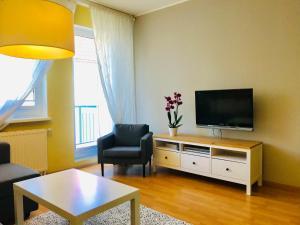 Telewizja i/lub zestaw kina domowego w obiekcie Sopot Apartment