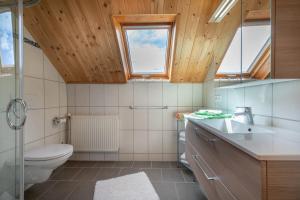 Ein Badezimmer in der Unterkunft Urlaub am Lacknerhof - Familie Klocker