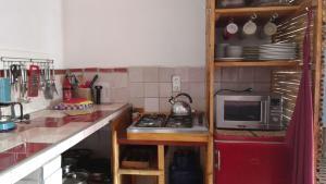 A cozinha ou kitchenette de Termas Da Azenha