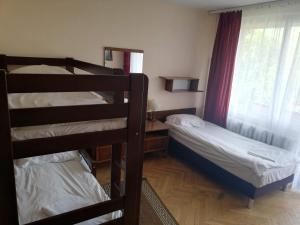 A bunk bed or bunk beds in a room at Hotel PRL RZEMIEŚLNIK