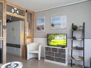 Ein Sitzbereich in der Unterkunft Haus am See App.Anker am Kranichsee