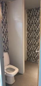 A bathroom at Playground Hostel