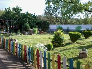 A garden outside Guest House PETROVA