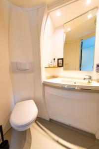 A bathroom at Hotell Kvarntorget
