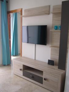 A television and/or entertainment center at Apartment Montecarlo on Levante beach
