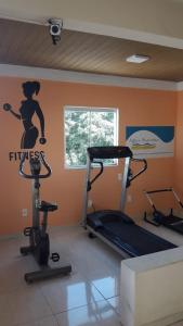 The fitness center and/or fitness facilities at Hotel Agua Marinha