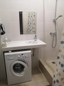 A bathroom at Уютная квартира