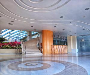 Ο χώρος του λόμπι ή της ρεσεψιόν στο Aegean Blue Beach Hotel