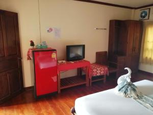 A television and/or entertainment center at Phamarnview Guesthouse