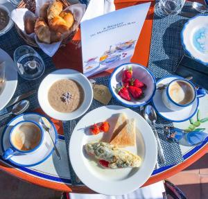 Breakfast options available to guests at Monastero Santa Rosa Hotel & Spa