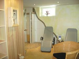 Koupelna v ubytování Landhaus Trinker