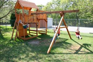 Children's play area at Cape Cod Irish Village