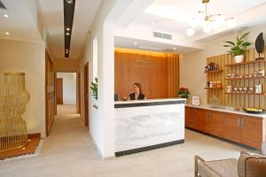 The lobby or reception area at Hotel Corsica & Spa