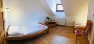 Postel nebo postele na pokoji v ubytování Pension Krumau